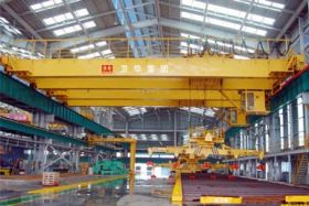 Bridge Crane with Electromagnetic Hanging Beam