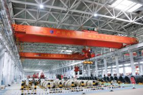 Multifunction Magnetic Crane Handling Steel Bars and Coil at Unmanned Factory
